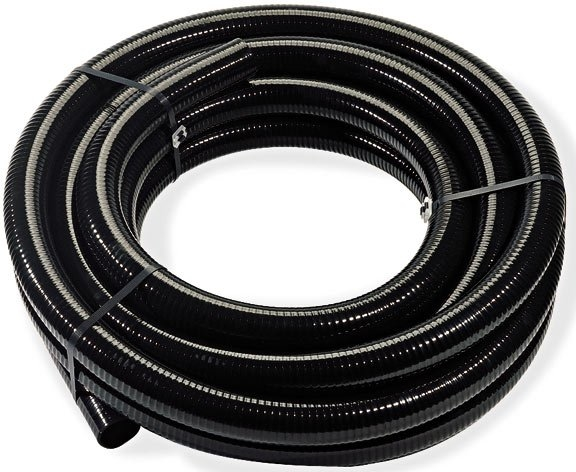 Alpine black flexible pvc tubing inch to id