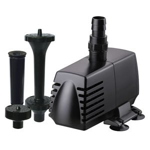 Hampton Water Gardens Utility Pump/Fountain Head Kit 1650 GPH | Pond
