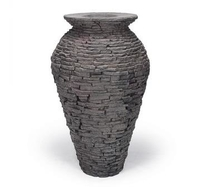 Image Stacked Slate Urn Fountain - Small