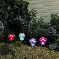 Image Smart Solar 4-Piece Mushroom Light Set