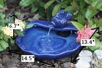 Image Smart Solar Ceramic Solar Koi Fountain