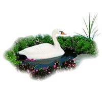 Image Floating Swan Pond Decor