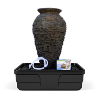 Image Medium Stacked Slate Urn Landscape Fountain Kit