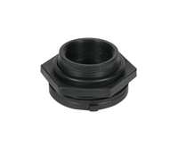 Image Black Poly Bulk Head Fitting 1-1/4 inch
